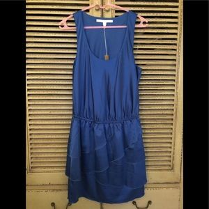 LC Lauren Conrad blue ruffle dress